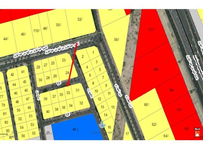 أرض سكنية بالخبر - حي حزام الذهبي