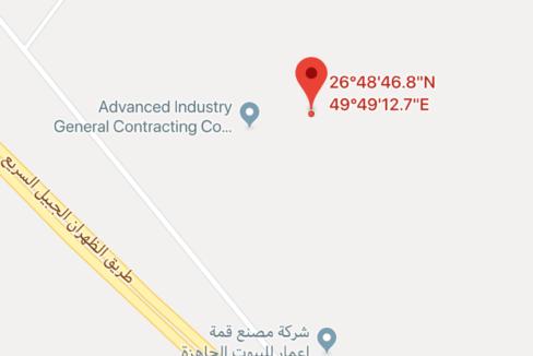 أرض بور على شرق طريق الجبيل - الظهران